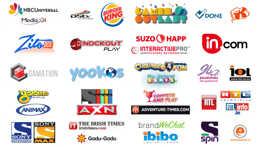Some of the past and current publishers that make use of the GameZBoost white label gaming platform