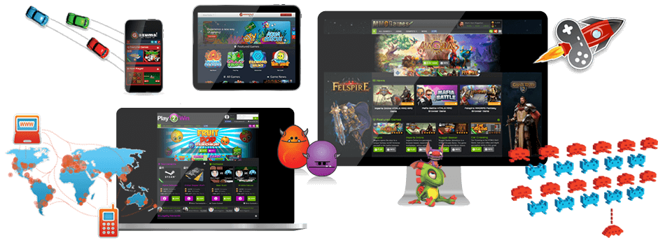 Anywhere, Anytime, Playtime with GameZBoost Responsive and Adaptive White Label Desktop MMO and Mobile Web Gaming Platforms