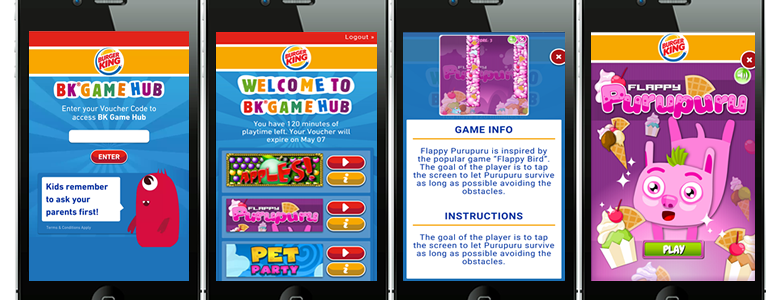 Burger King New Zealand - BK Game Hub In-Restaurant Gaming Solution