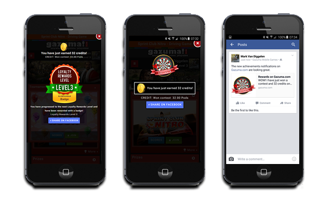 Examples of the Social Features and User Interaction on GameZBoost Mobile Web Games Website