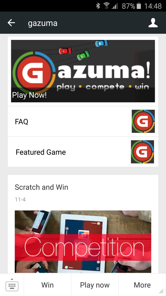 Gazuma Official Account now Live on WeChat