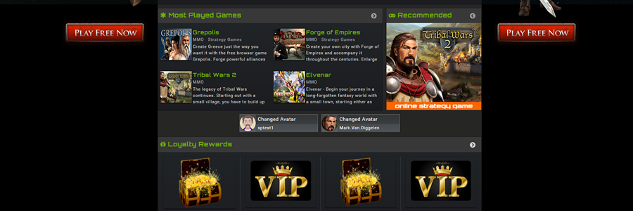 MMOGames.co.za - MMO & RPG Browser Games Portal