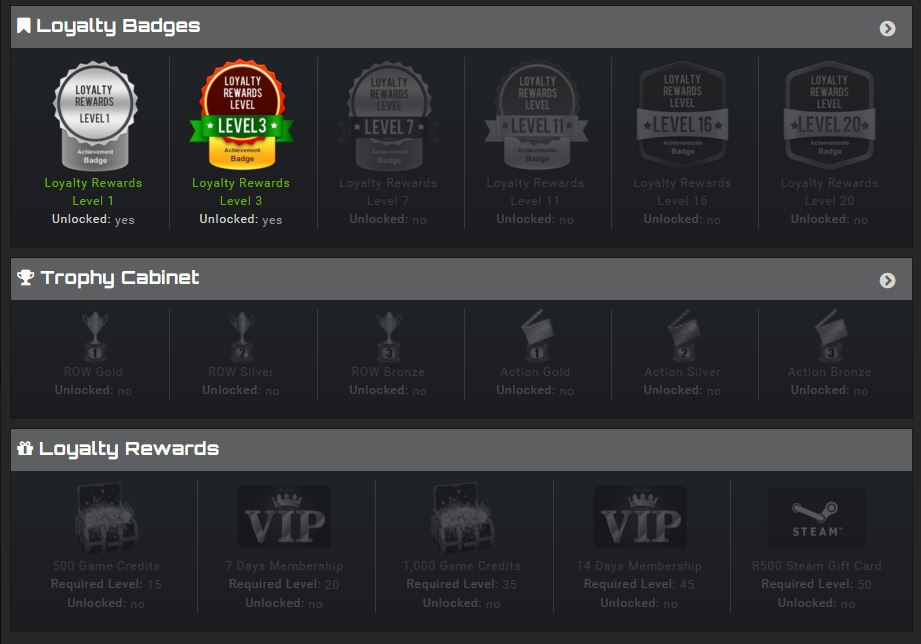 GameZBoost Loyalty Rewards Profile View