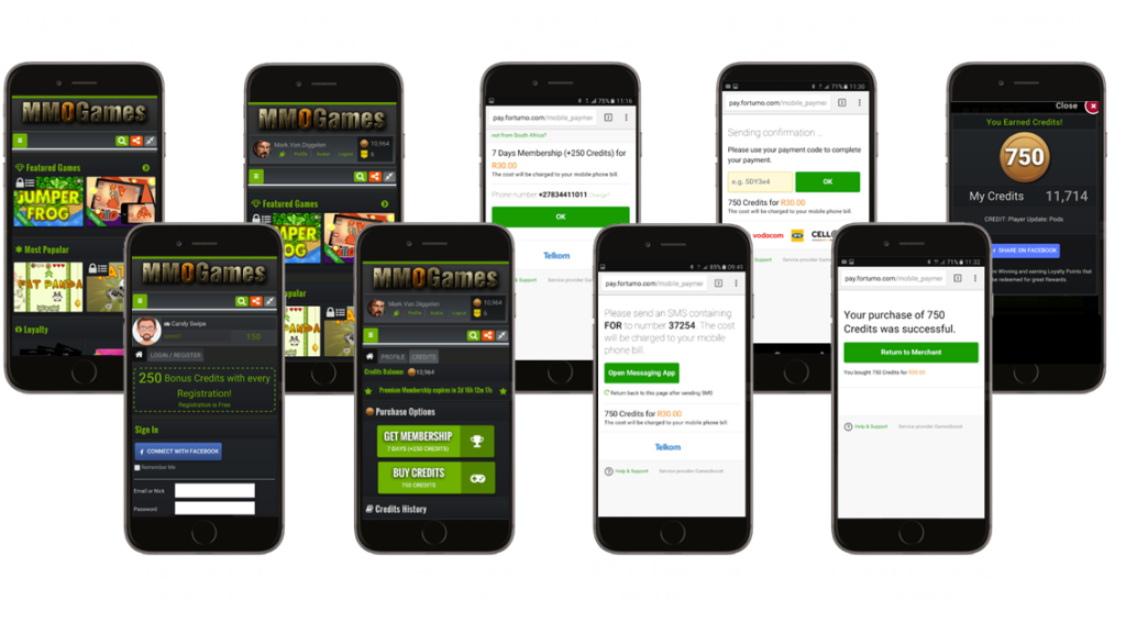 GameZBoost Mobile Billing Flow Example
