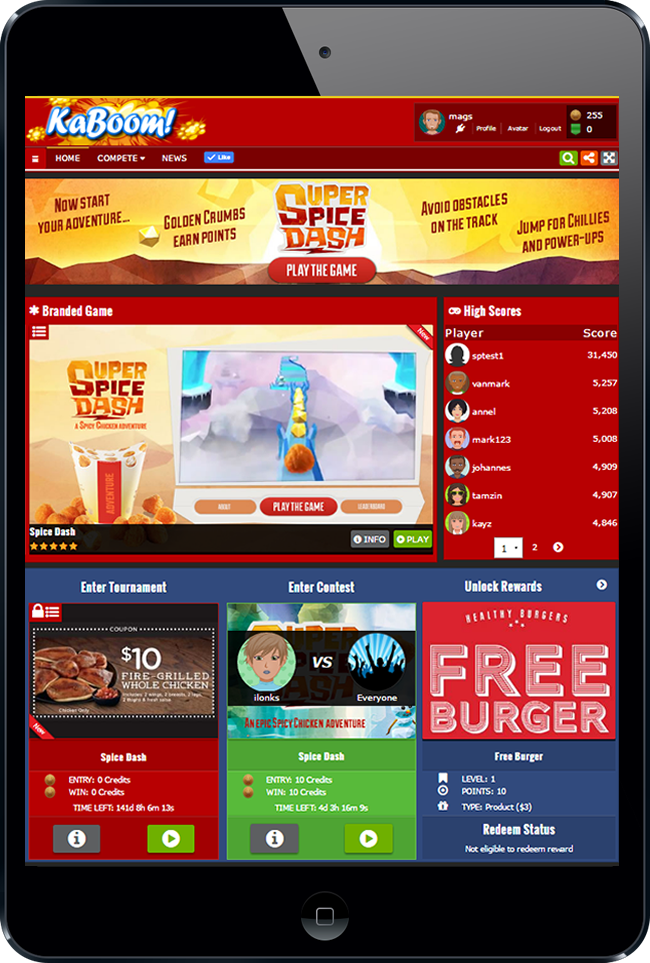 GameZBoost Branded Games Mini Games Site Home Page Layout