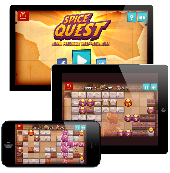 Spice Quest – example of McDonalds branded game campaign