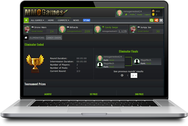Final of the Single Eliminator / Elimination Tournaments Platform