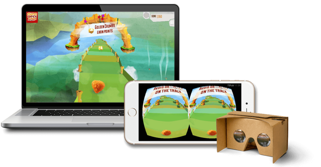 GameZBoost VR HTML5 Game for Google Cardboard