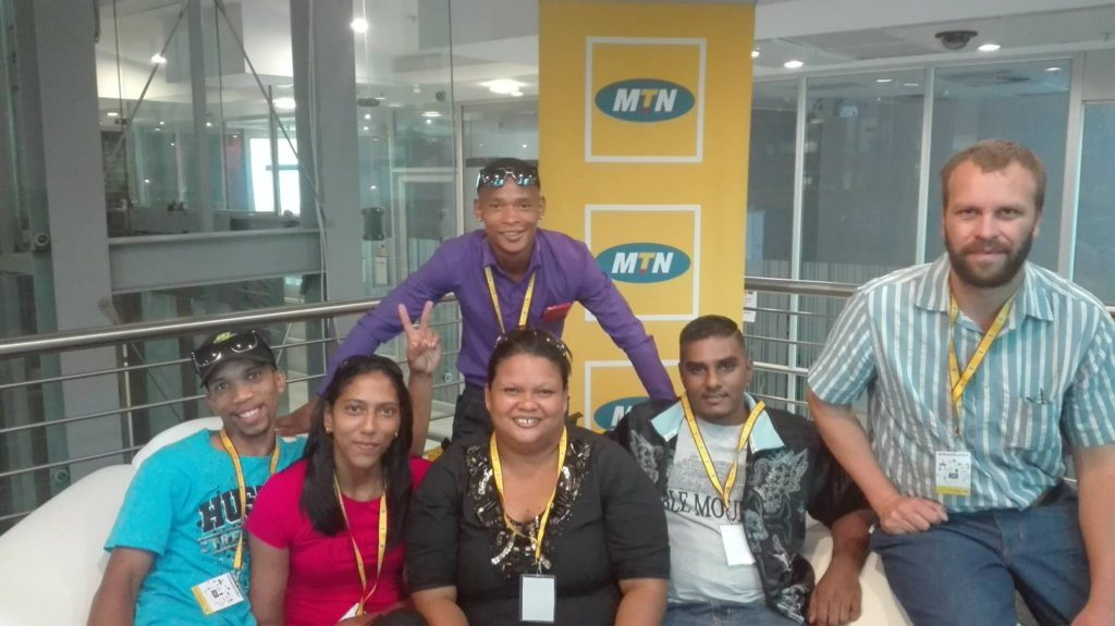 Some of the Contestants for the MTN GameZBoost Challenge Final