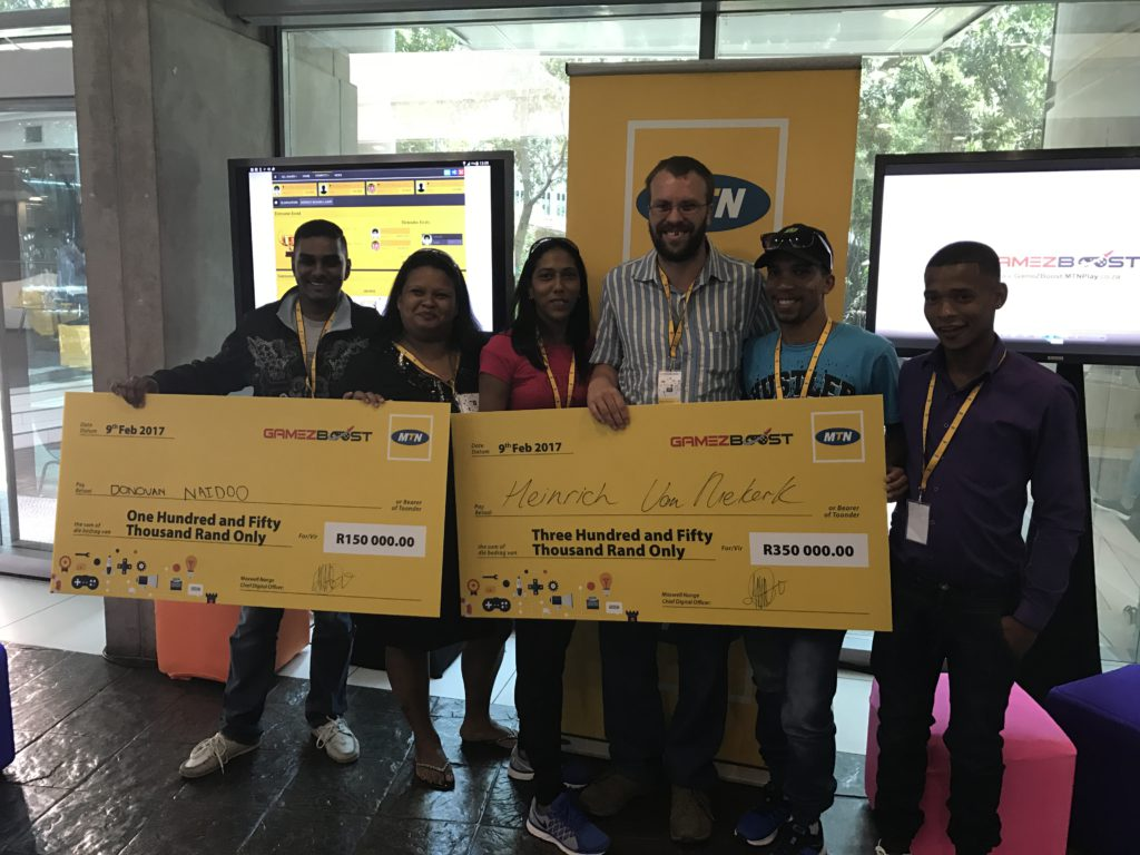 The winners of the MTN GameZBoost Challenge final