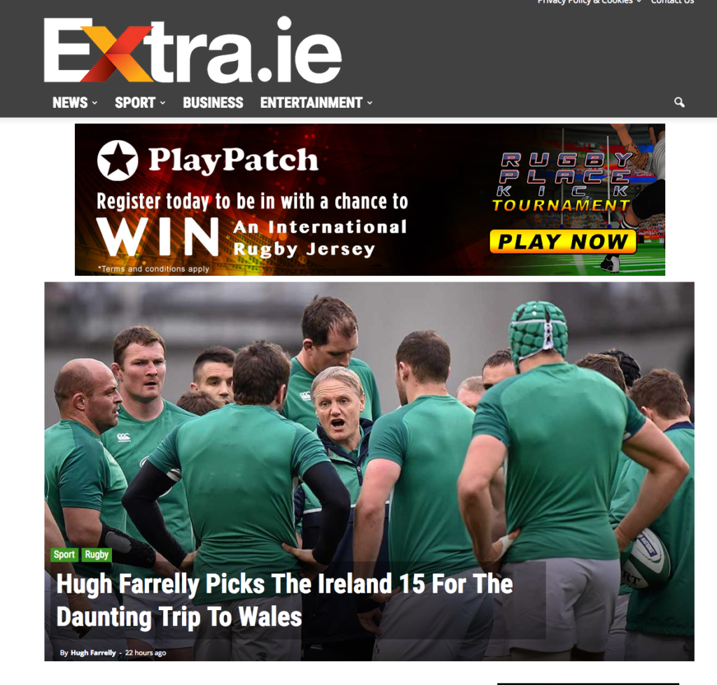 Banner Campaign Running on Extra.ie