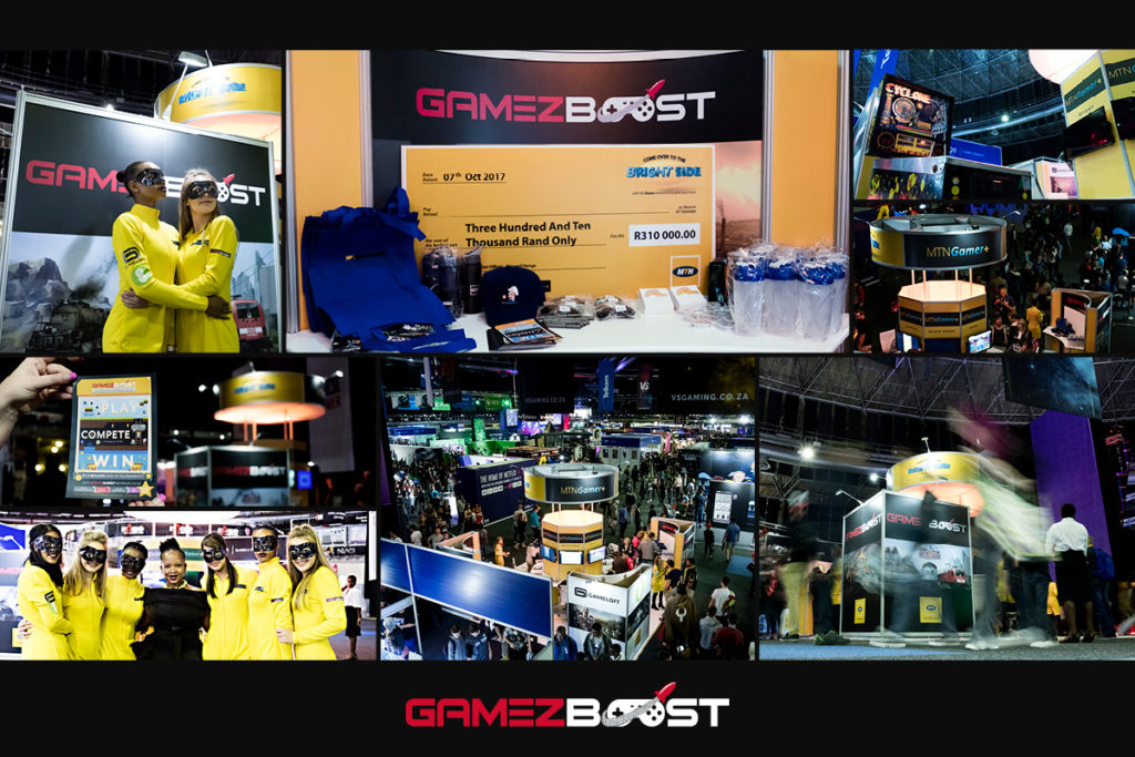 MTN setup a stand to showcase there various games offerings, included was the GameZBoost platform, with the main event being the tournament finale on the Saturday.