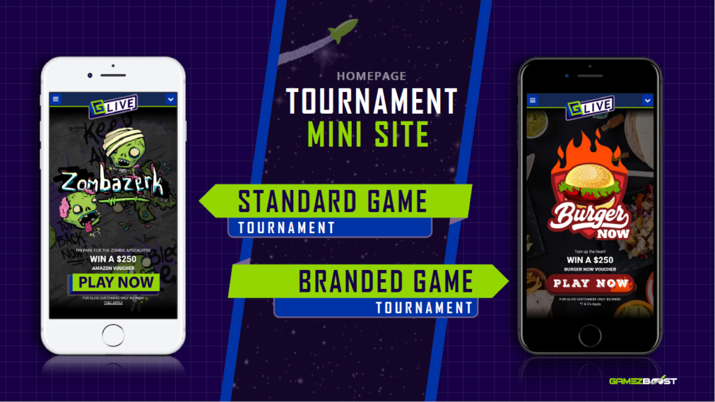 The tournament mini site solution
